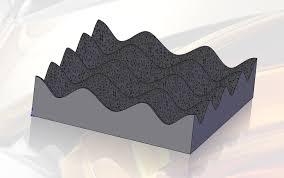 2 x 2 foam egg crate pad stl solidworks 3d cad model grabcad