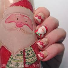 cdbnails 12 days of christmas nail art wrapping paper