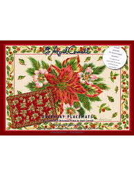 christmas traditional paper placemats set 24 your home