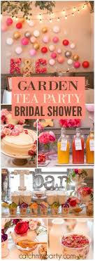 tea party bridal shower ideas garden tea party bridal wedding shower s garden tea