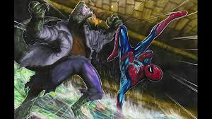the amazing spiderman vs the lizard speed coloring youtube
