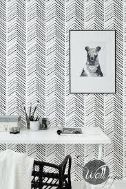 removable wallpaper uk modern black and white wallpaper self adhesive herringbone pattern