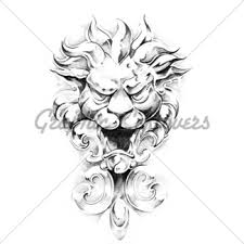 sketch of tattoo art dragon gl stock images