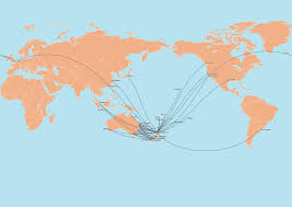 Cathay Pacific Route Map by Oc All Current Non Seasonal Flights By Air New Zealand Currently