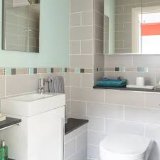 Small Bathroom Designs Bathroom Lighting Turquoise And Grey Bathroom With Tiling Detail
