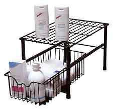 Stackable Kitchen Cabinet Organizer Sink Cabinet Basket Organizer Drawer Storage Pantry Stackable