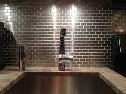 Perfect Delightful Stainless Steel Subway Tile Backsplash Kitchen - Stainless steel kitchen backsplash