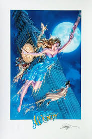 peter pan u0027s wendy signed scott campbell print 13