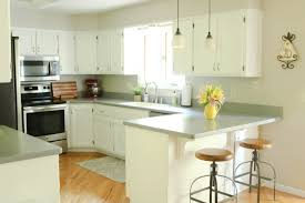 green chalk paint kitchen cabinets chalk painted kitchen cabinets from honey oak to white