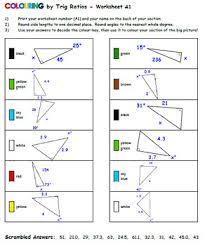 by trig ratios diagram version grinch 15 u0026 30 worksheet mosaics