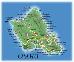 map of waikiki map oahu map of oahu hawaii including waikiki and honolulu