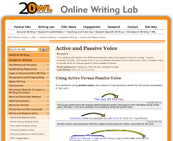 Purdue Owl Resume The Best Resume by Use Active Voice For Instructional Narration Purdue Owl Online