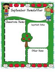monthly preschool newsletter template 28 images 17 best ideas