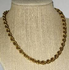 gold tone chain necklace images Monet classic 15 quot gold tone twisted rope chain necklace jpg