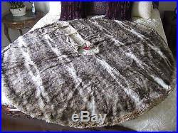 faux fur tree skirt barn faux fur tree skirt caramel ombre christmas nwt