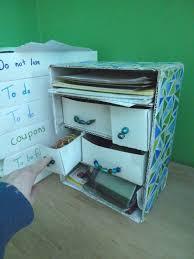 Desk Organizer With Drawer by Cardboard Desk Organizer A Drawer Beadwork Mosaic And