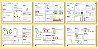 1 autumn 1 maths activity mats
