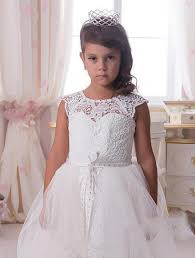 toddler wedding dress white lace flower dress crystals toddler
