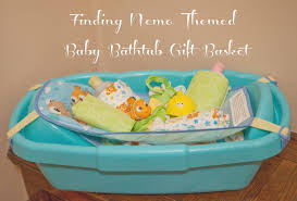 baby shower tub finding nemo baby bathtub gift basket from disney baby