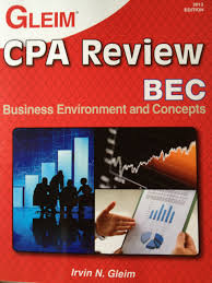 cpa review bec business environment and concepts gleim