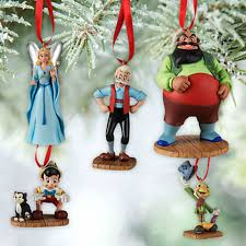 disney of pinocchio sketchbook 5 pc ornament set ebay