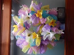 diy deco mesh spring wreath grammes country splendor