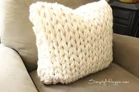 big stitch knit pillow pattern simplymaggie com