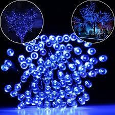 blue led christmas string lights qedertek solar fairy string lights 100 led christmas decorative