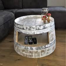 Wohnzimmertisch Shabby Tische Aus Gebrauchten Weinfässern Fassmöbel Fass Schmiede