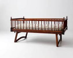 antique wooden crib etsy