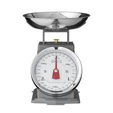 balance de cuisine retro balance de cuisine rétro mécanique 3 kg grise bloomingville