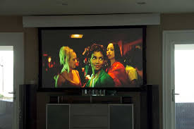 Media Room Tv Vs Projector - supersize your super bowl party with a bright room projector