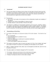 Security Procedures Template security policy template 7 free word pdf document downloads
