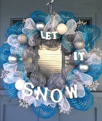 28 Light Blue And White Wire Wreath Frame Covered With Silver Blue And White Mesh Silver