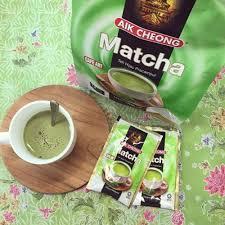 Teh Matcha jual teh hijau aik cheong instant matcha latte teh pracur di