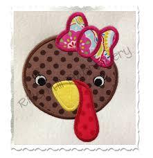 Thanksgiving Appliques Applique Turkey Machine Embroidery Design