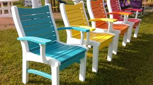 perfect colorful patio chairs with additional quality furniture