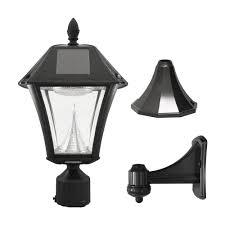 gama sonic gs 105fpw baytown ii solar outdoor led light fixture