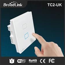 touch screen wall light switch broadlink tc2 uk standard wireless 2 gang remote control wifi wall