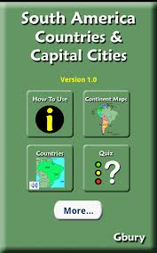 South America Map Countries And Capitals by Amazon Com South America Countries And Capital Cities Appstore