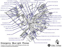 fire extinguisher symbol floor plan blue light phones university police csu chico