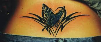 collection of 25 tribal butterfly on lower back