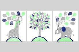 Elephant Nursery Wall Art Fresh by Gray Mint Navy Nursery Art Elephant Nursery Art Giraffe
