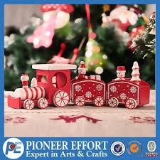 Train Decor Wooden Christmas Train Table Decoration Christmas Train Decor