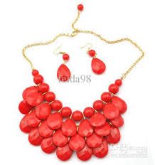necklace chunky images Wholesale bib statement necklace chunky multi layers resin gem jpg