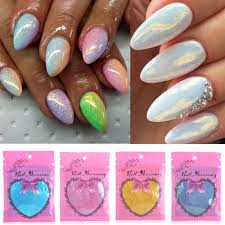 How To Decorate Nails At Home Mermaid Effect Powder Glitter Mirror Nail Art Just Look Mag