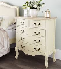 Bedroom Furniture Cream by Shabby Chic Champagne Furniture Cream Chest Of Drawers Dressing