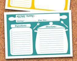 editable recipe cards etsy