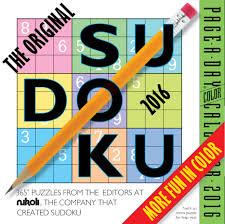 the original sudoku color page a day calendar 2016 editors at