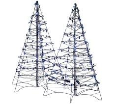 s 2 pre lit led 3 u0027 fold flat outdoor christmas trees by lori